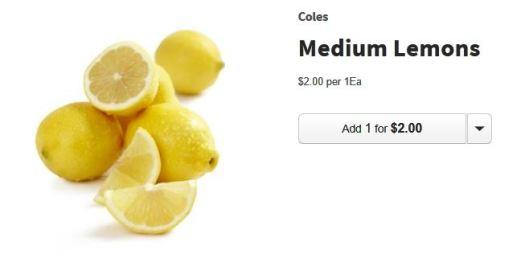 Coles Lemon