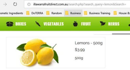 Illawarra Fruit Direct Lemon