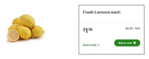 Woolworths Lemon